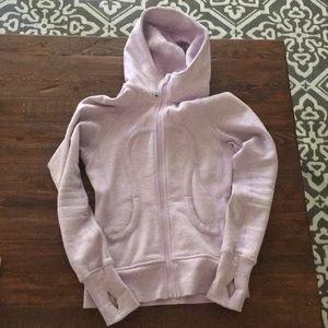 Periwinkle Lulu Lemon hooded zip sweatshirt